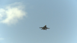 HD2009-6-2-53 F16s fly Stock Video Footage