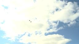 HD2009-6-2-61 F15 fly break Stock Video Footage