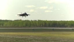 HD2009-6-2-63 F15 fly landing Footage