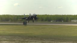 HD2009-6-2-63 F15 fly landing Stock Video Footage