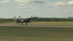 HD2009-6-2-63 F15 fly landing Stock Video Footage