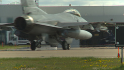 HD2009-6-2-65 F16 Falcon taxi Stock Video Footage