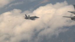 HD2009-6-3-4 aerial F18s Stock Video Footage