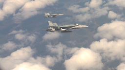 HD2009-6-3-7b aerial F18s Stock Video Footage