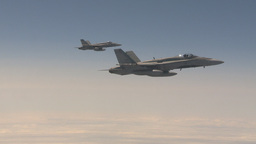 HD2009-6-3-9 aerial F18s Stock Video Footage