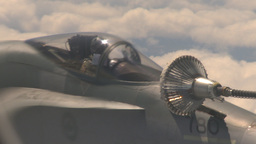 HD2009-6-3-11 aerial F18s refuel Footage