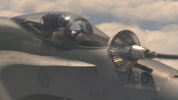 HD2009-6-3-11 aerial F18s refuel Stock Video Footage