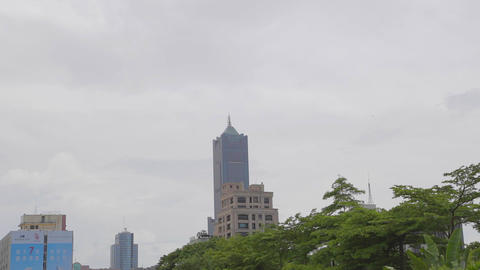 Kaohsiung 85 Building in day from central park Footage