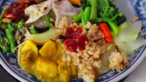 Macro - Kaohsiung vegetarian meal Footage