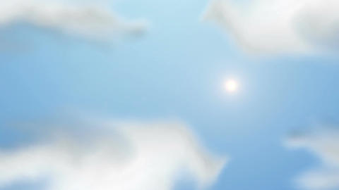 Sky Loop Animation stock footage