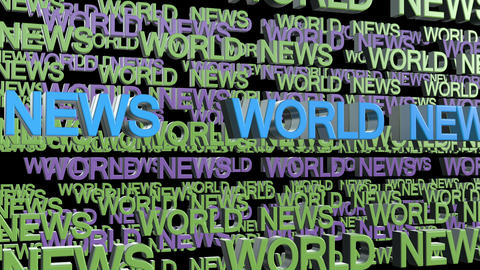 World News Title stock footage