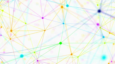 Colored lines and particles motion graphic Animation