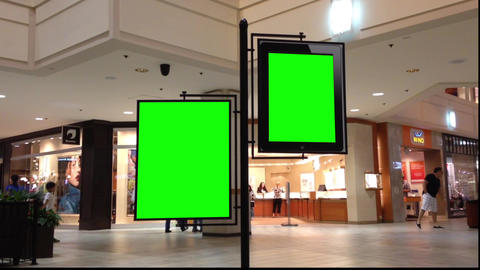 Green billboard for your ad inside Coquitlam Cente Footage