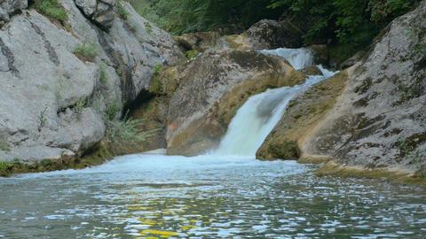 Waterfall, river, mountains, nature. Crimea Footage