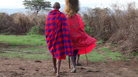 Maasai warrior, hunter Footage