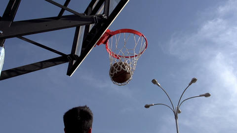 Ball Basketball Hoop stock footage