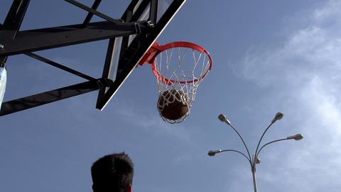 Ball Basketball Hoop stock footage