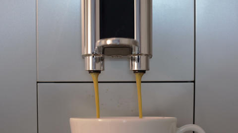 Close up at the coffee maker front element Footage