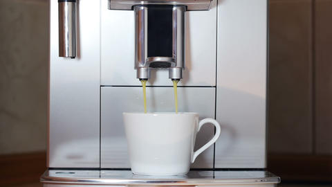Front View Of The Coffe Maker - Long Version stock footage