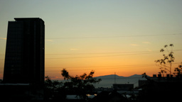 Sunrise And Skyscraper stock footage