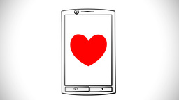 Mobile Assembly With Heart stock footage