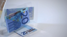 Foil Protected Banknotes In Sculpture stock footage