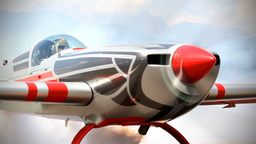 Aerobatic Air Show Aircraft Stunts stock footage