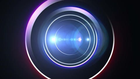 Opening Intro Flash Light Flare A 1 Blue Long 4k stock footage