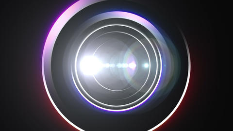 Opening intro Flash light flare A 1 white Long 4k Animation