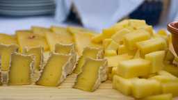 Cheese On The Table stock footage