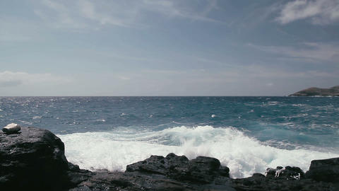 1080p, Shore Line, Coast Line at Lanai Lookout, Ha Footage