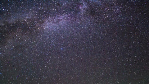 In The Wake Of The Milky Way. Pamir, Tajikistan stock footage