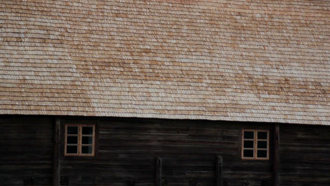Cabin with a thatched Roof Footage