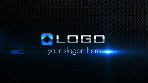 Corporate Logo & Text Title 3D Shatter Reveal Anim After Effects Template