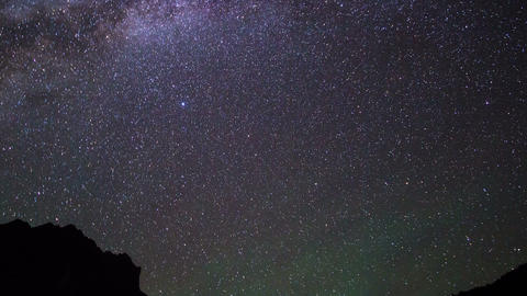Starry Night. Pamir, Tajikistan Footage