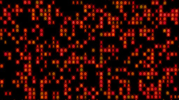 Data Stream Binary Glowing Zoom In Orange Red Animation