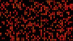 Data Stream Binary Glowing Zoom In Orange Red Animation