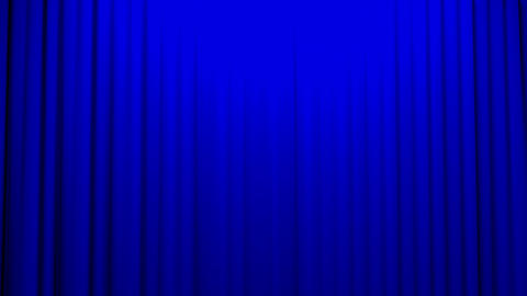 Blue Curtains opening and closing stage theater ci, Stock Animation