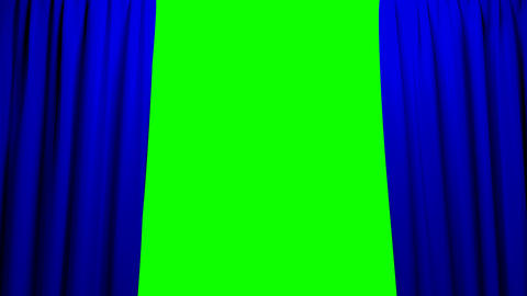 Blue Curtains opening and closing stage theater ci Animation