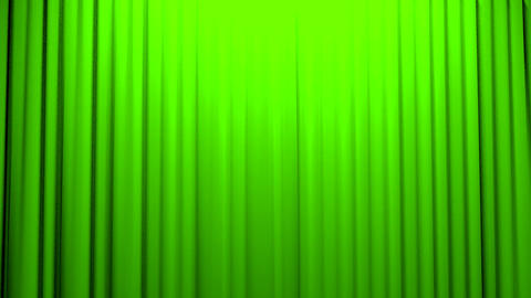 Green Curtains opening and closing stage theater c Stock Video Footage