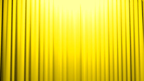 Yellow Curtains opening and closing stage theater Stock Video Footage