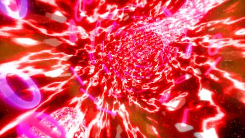 Binary tunnel wormhole flight through space warp s Animation