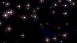 Camera Flashes Stadium Crowd Lens Flare Fame Loop stock footage