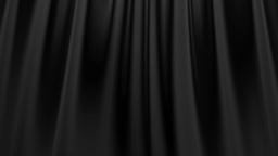 Silk satin elegant flowing background loop black Stock Video Footage