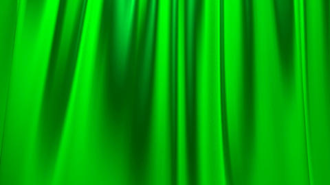 Silk satin elegant flowing background loop green Animation