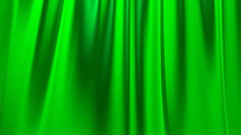 Silk satin elegant flowing background loop green Animation