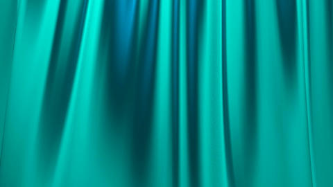 Silk satin elegant flowing background loop turquoi Animation