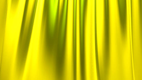 Silk satin elegant flowing background loop yellow Animation