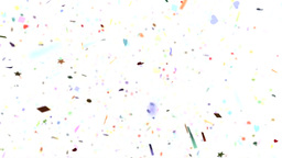 Confetti shapes falling towards camera slow motion Animation