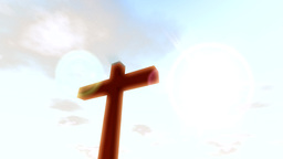 Cross crucifix with time lapse clouds and sun chri Animation